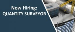 Now Hiring – Quantity Surveyor