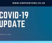 Simpson Update (26.03.20) – CORONAVIRUS (COVID-19)